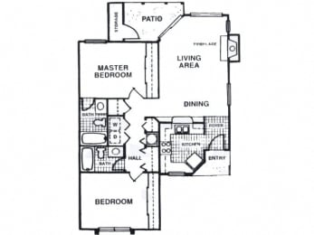 Two bedroom apartment at Fisherman's Landing in Ormond Beach, FL