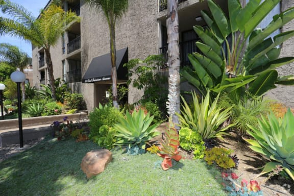 Community Entrance at El Patio Apartments, California, 91207