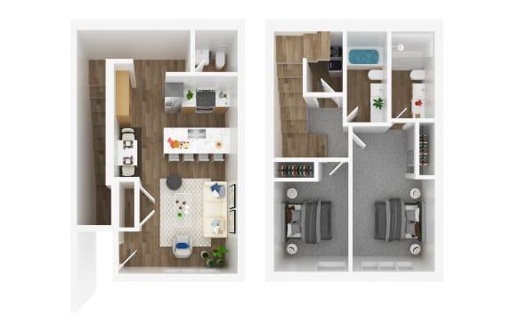 Floor Plan  2 bedroom apartments for rent