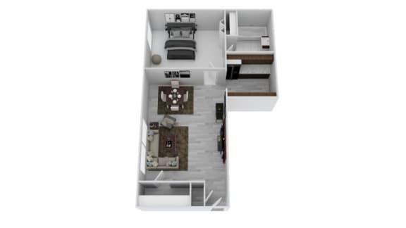 Floor Plan  1 Bedroom Jr.