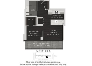 Unit 06A Floor Plan at 640 North Wells, Chicago, 60654