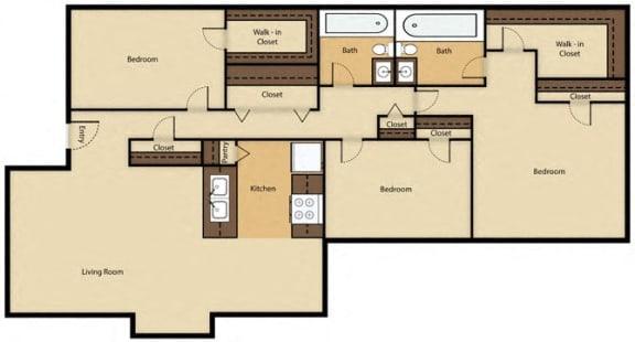 Floor Plan  Rent: $1,167