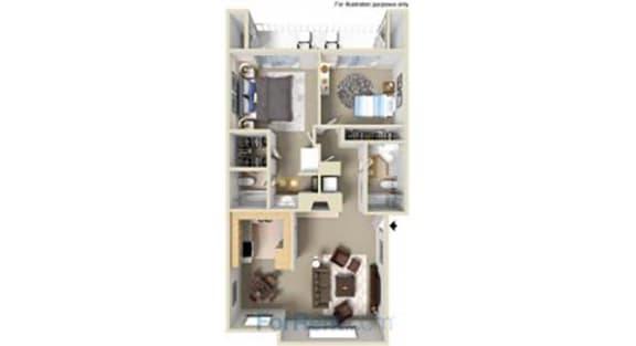 Floor Plan  Point Bonita Apartment Homes - 2 Bedroom 2 Bath Apartment
