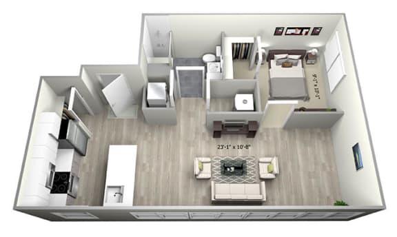 Floor Plan  1 Bed 1 Bath TruaN Floor Plan at 735 Truman, Hyde Park, MA, 02136