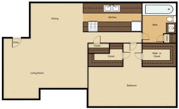 Floor Plan  Rent: $844