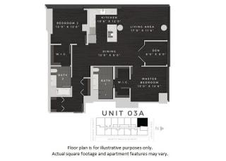Unit 03A Floor Plan at 640 North Wells, Illinois, 60654