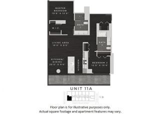 Unit 11A Floor Plan at 640 North Wells, Illinois, 60654