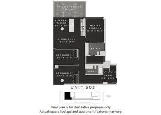 Unit 503 Floor Plan at 640 North Wells, Illinois, 60654