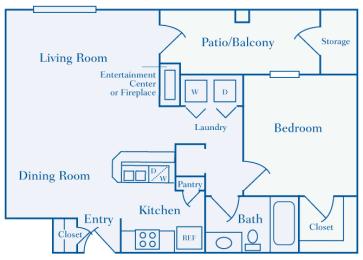 Lantern Woods - A2 - The Cape Cod - 1 bedroom - 1 bath