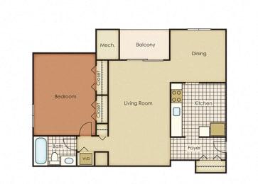 Pines of York Apartment Homes - 1 Bedroom 1 Bath Apartment