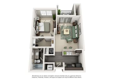 1000 Spalding Apartment Homes - 1 Bedroom 1 Bath Apartment