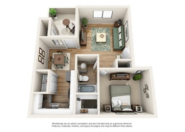 Heritage Pointe Apartment Homes 1 Bedroom 1 Bath Apartment