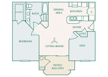 The Commons - A2 - Aberdeen - 1 bedroom - 1 bath
