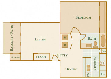 East Chase Apartments - A1 - 1 bedroom and 1 bath