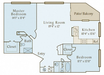 Covey at Fox Valley - B2 (The Reserve) - 2 bedroom and 2 bath