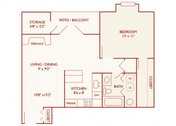 Brentwood Oaks - A2 - 1 bedroom and 1 bath