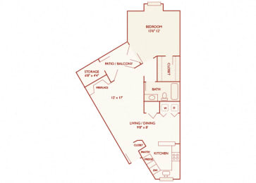 Brentwood Oaks - A3 - 1 bedroom and 1 bath