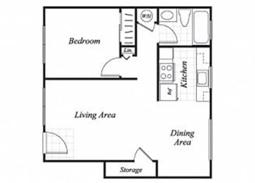 Floor Plan  A1 floorplan at Trestles Apartments in San Jose, CA