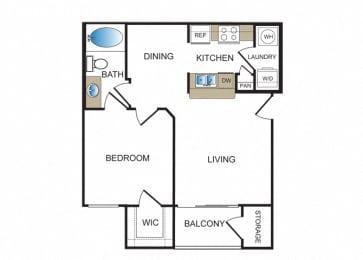 Floor Plan  A1 at Kensley Apartment Homes