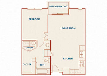 ABQ Uptown Apartments - A1 - 1 bedroom and 1 bath