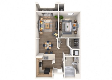 Drysdale Floor Plan at Residences at Stadium Village, Arizona, 85374
