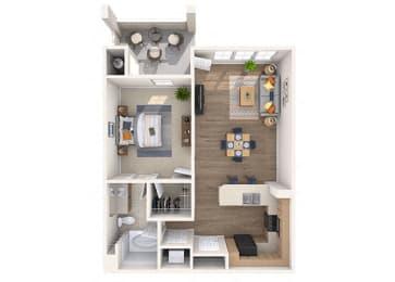 Robinson Floor Plan at Residences at Stadium Village, Arizona