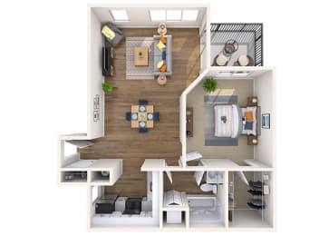 Floor Plan 1x1 Small