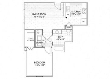 Mesa | 1 Bedroom 1 Bath Apartment