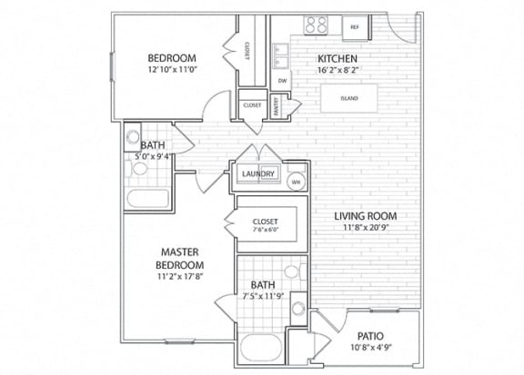 Palisade Two Bedroom Floor Plan