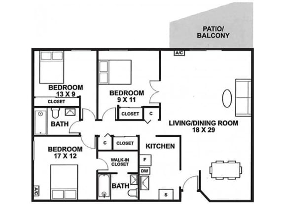 The Woods of Burnsville Apartment Homes - Studio 1 Bath Apartment