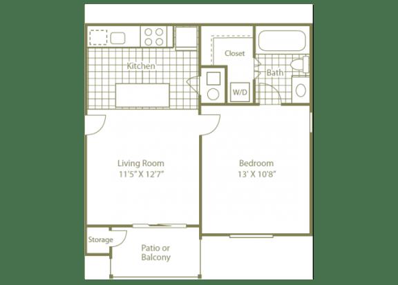 Uptown Buckhead Apartment Homes1 bedroom 1 bath 550 sqft