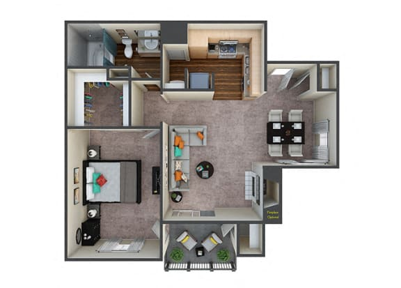 Floor Plan  Indigo Creek Retreat 1Bed/1Bath