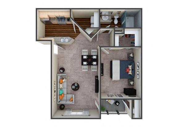 Floor Plan  Indigo Creek Sanctuary 1Bed/1Bath