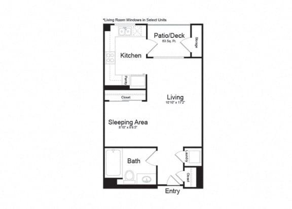Floor Plan  Studio - 564sf