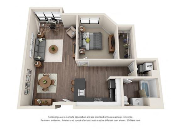 Floor Plan  ONE BEDROOM   ONE BATH A8.1