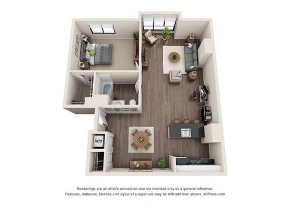 Floor Plan  ONE BEDROOM | ONE BATH A9.1