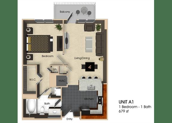 Floor Plan  Floor plan at Aurora, North Bethesda, MD