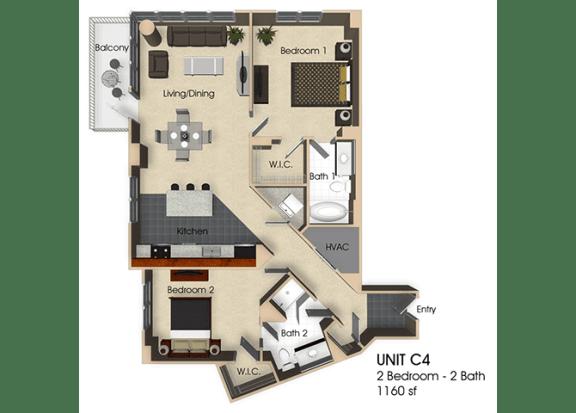 Floor Plan  Floor plan at Aurora, Maryland,20852