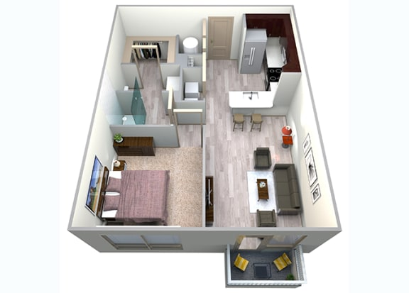 Floor Plan  Slate Floor Plan at Azure Houston Apartments, Houston, TX