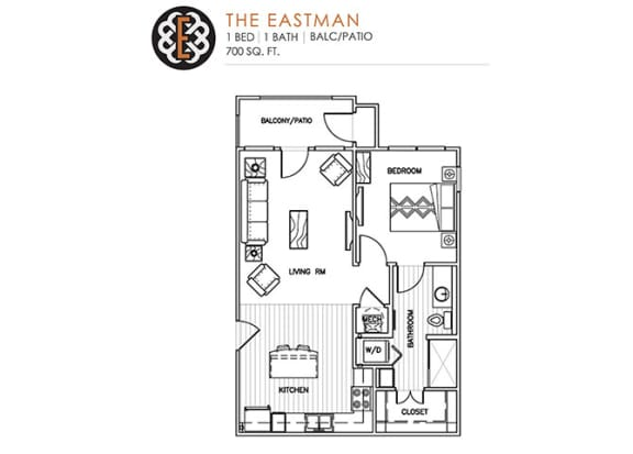 Floor Plan  THE EASTMAN at The Edison at Peytona, Gallatin