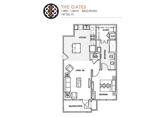Floor Plan  THE GATES at The Edison at Peytona, Gallatin, TN