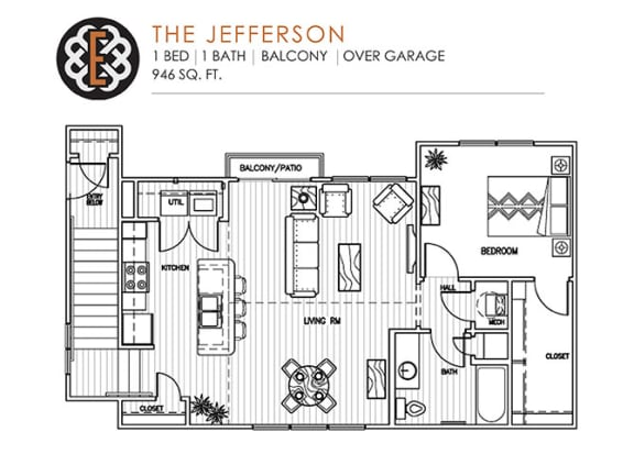 Floor Plan  THE JEFFERSON at The Edison at Peytona, Tennessee