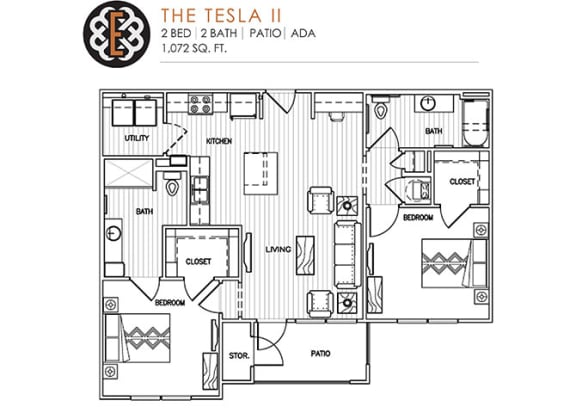Floor Plan  THE TESLA II at The Edison at Peytona, Gallatin,Tennessee