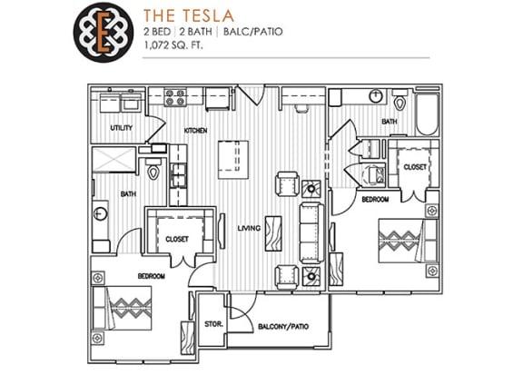 Floor Plan  THE TESLA at The Edison at Peytona, Gallatin, 37066