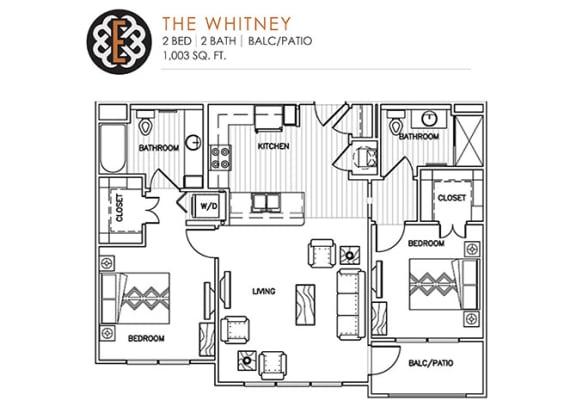 Floor Plan  THE WHITNEY at The Edison at Peytona, Gallatin
