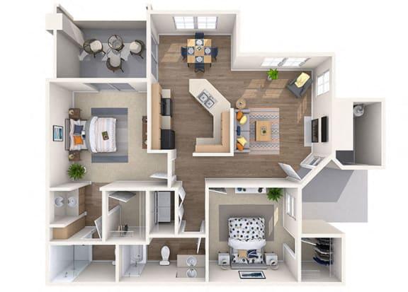 Floor Plan  Orchid Floor Plan at Lumiere Chandler Condos, Chandler, AZ, 85226