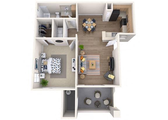 Floor Plan  Sierra Foothills|Agave|1 Bed/1 Bath