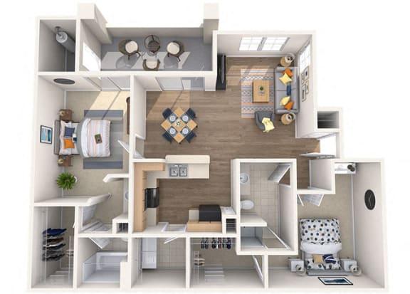 Floor Plan  Sierra Foothills|Palo Verde|2 Bed/2 Bath