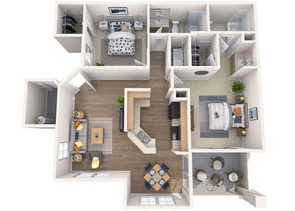 Floor Plan  Sierra Foothills Saguro 2 Bed/2 Bath