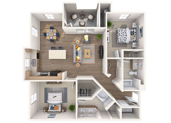 Floor Plan  Aaron Floor Plan at Residences at Stadium Village, Surprise, AZ